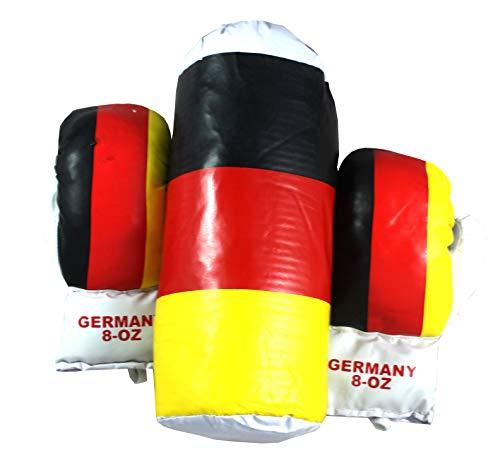 Lisaro Kinder-Boxsack Germany mit Box-Handschuhen/Kinder Boxsack mit Boxhandschuhe