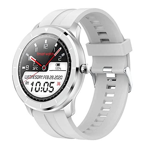 Inteligente reloj del deporte del rastreador de ejercicios T6 impermeable de pantalla táctil completa Presión pulsera del reloj Tasa de sangre del corazón dispositivo de detección de plata usable