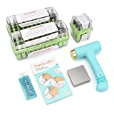 ImpressArt - Arcadia Letter, Number and Tools Metal Stamping Bundle, w/Ergo-Angle Stamping Hammer, Metal Stamp Guides, Small Steel Stamping Block, Small Enamel for Hand Stamping Jewelry
