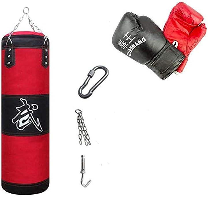 Sacco guantoni fasce e gancio per allenamenti - mediawave store kit all in one da boxe 10749 B07DLB3DPF