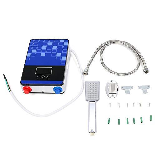 Aquecedor de água sem tanque elétrico, Mini elétrico Aquecedor de água quente instantâneo sem tanque, 220V 6500W sob demanda Aquecedor de água com tecnologia auto-modulante com display LCD