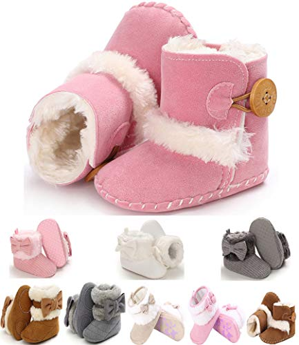 Infant Baby Girl Boots Shoes Warm Wool Snow Winter Anti-Slip Newborn Toddler Prewalker For 0-12 Months