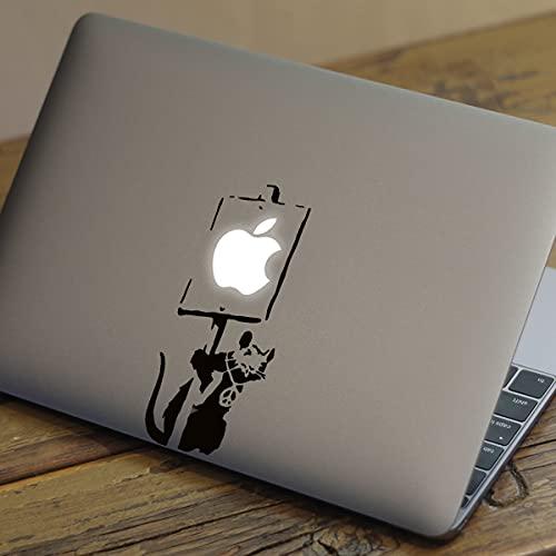 BANKSY RAT Apple MacBook Decal Sticker fits all MacBook models (15' Pro (2017-2021))
