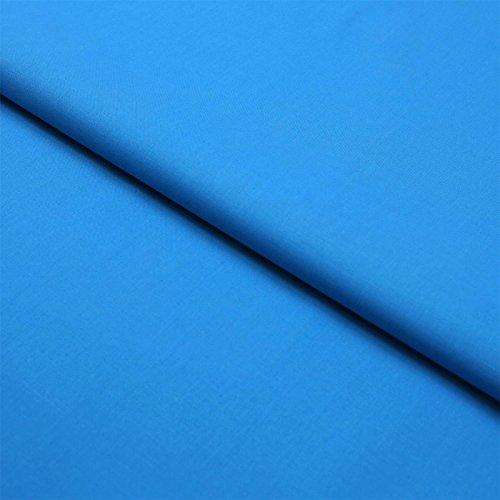 Hans-Textil-Shop Stoff Meterware Türkis Baumwolle Linon (Einfarbig, Uni, Schadstoffgeprüft, Pflegeleicht, ca 140 g/qm, ca. 145 cm breit, 1 Meter)