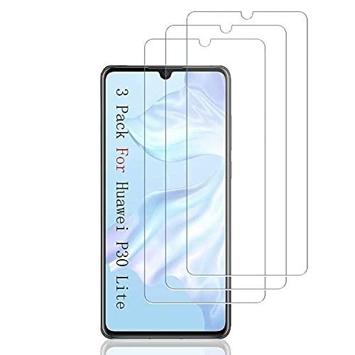 AMNIE [3 Stück Schutzfolie Kompatibel mit Huawei P30 Lite und P30 Lite New Edition, HD Klar Displayschutzfolie, Kratzen Blasenfrei 2.5D Rand Einfacher Montage
