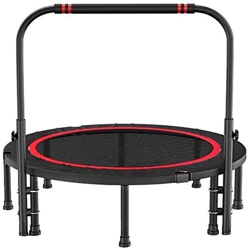 suge Foldable Trampoline Mini Exercise Rebounder for Adult with Adjustable Handrail,Indoor Gym Best Urban Cardio Workout Home Trainer, Burning Calories (Size : 40inches)