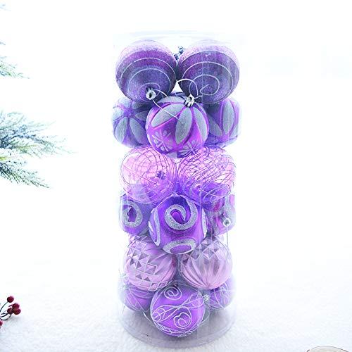Simmia Home Christbaum Anhänger/Christbaumschmuck/Weihnachtskugeln/Weihnachtsbaumschmuck Weihnachtsbaum Anhänger handbemalt Lichtkugel 24 Karat, 8cm lila