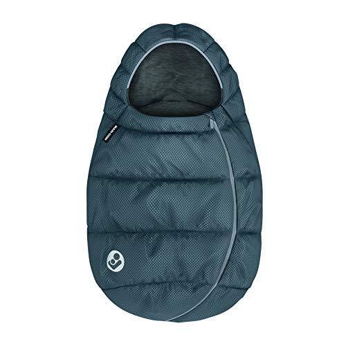 Maxi-Cosi saco para Silla coche Grupo 0+ bebé recién nacido, forrado con felpa y acolchado, mantiene el bebé calido y protigido, color Grey (Gris Azulado)