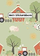 Mein Stickeralbum: Stickeralbum Blanko Traktor Bauernhof Tiere Stickerbuch Leer zum sammeln DIN A4 35 Seiten (German Edition)