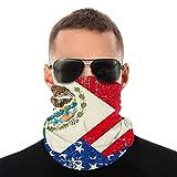 Nother Máscara facial de verano con bandera mexicana americana, protección contra el polvo, sol, protección UV, polaina para el cuello, para correr, senderismo, motociclismo y ciclismo, bufanda blanca