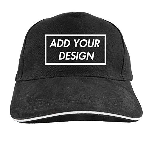 SSSGHH Gorras De Hombre Beisbol Gorra De Béisbol Agregue Su Diseño Imprimir Logotipo Texto Foto Negro Caqui Personalizar Gorras para Hombres Mujeres