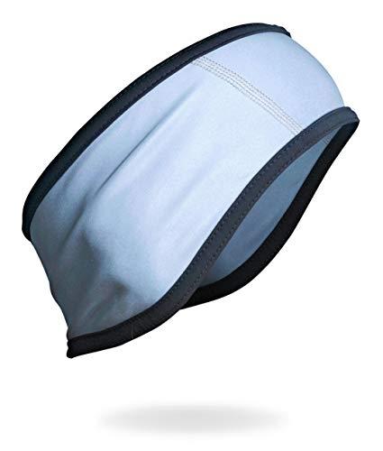 Reflektives Stirnband Herren Sport Kopfband Effektiver Ohrenschutz Haarband Jogging Laufen Wandern Fahrrad Pendeln Größe M/L HiVis BUSY SONS