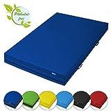 ALPIDEX Weichbodenmatte Matte Turnmatte Fallschutz 200 x 100 x 20 cm mit Anti-Rutschboden und Tragegriffen, Farbe:dunkelblau