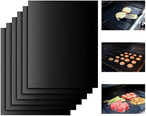 Miaowoof Copper Grill Mat Set of 6 100 Non Stick BBQ Grill Mats Heavy Duty Reusable and Easy product image