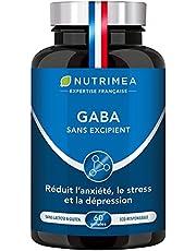GABA 750 mg/j Sans Excipient   Anti Stress & Anxiété, Calme et Sérénité, Sommeil Réparateur   60 gélules vegan   Fabrication Française   Nutrimea