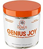 Genius Joy - Serotonin Mood Booster for Anxiety Relief, Wellness & Brain Support, Nootropic Dopamine Stack w/Sam-e, Panax Ginseng & L-Theanine  Natural Anti Stress & Herbal Calm, 100 veggie pills