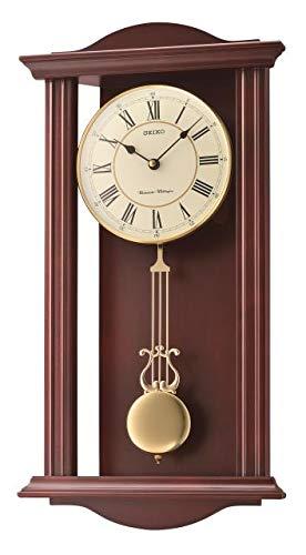 Seiko qxh072b horloge murale, bois, marron,...