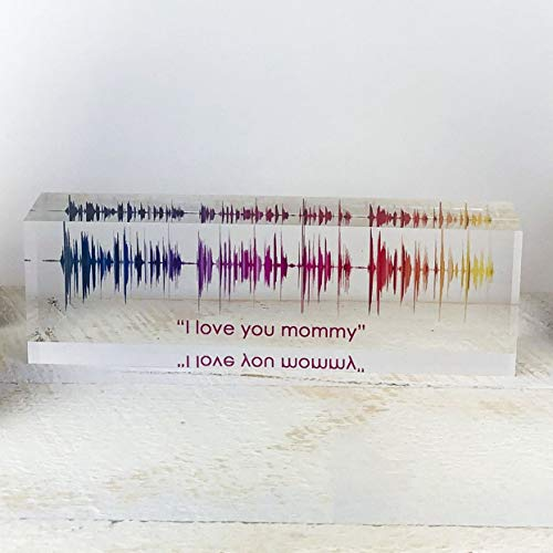 Artblox Soundwave Art Custom Gifts | Any Recording or Song On Acrylic Block | Unique Recording Sign Cool for Him | Wedding Gifts for Women for Boyfriend