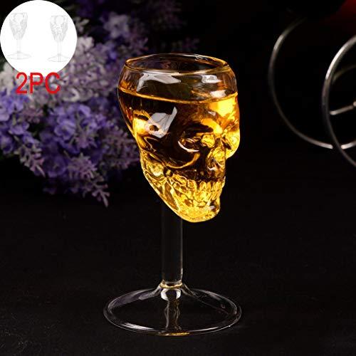 xmansk 4X Transparente Bier Wein Tasse Flasche Glas Schädel Tasse Rotweingläser, Halloween Dekoration, hochwertige bruchbeständig Kristallglas, Rotweinglas für viele Rebsorten, spülmaschinenfest
