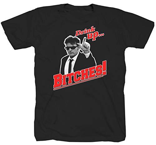 Charlie Sheen schwarz T-Shirt (3XL)