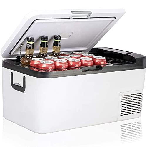 BIIII Refrigerador portátil,Refrigerador de coche de 18 litros,Camión RV barco mini congelador refrigeradores enfriador de enfriamiento rápido