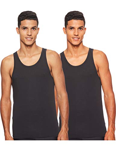 Calvin Klein Herren Top 2P TANK, Gr. Medium, Schwarz (BLACK 001)