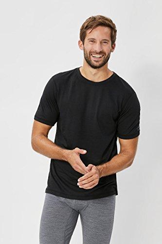super natural 140 T-Shirt Fonctionnel en Laine mérinos et à Manches Courtes pour Homme S Noir - Caviar