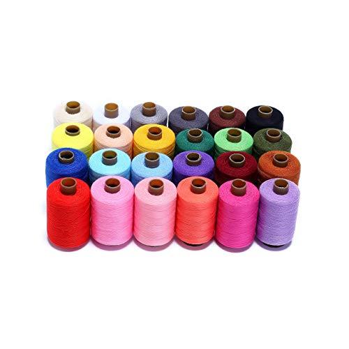 Lot de 24 bobines de fil à coudre de 914 m Candora® - En polyester - Pour couture à la main et à la machine