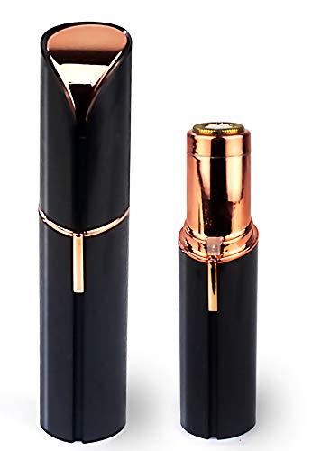 Depiladora Facial Eléctrica de Bolsillo Recargable USB con Luz LED, para Cejas, Labios, Barbilla y Zonas Sensibles, Mujer, Tamaño (11x2,5cm)