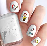 Peanuts Christmas (Clear Water-Slide Nail Decals)