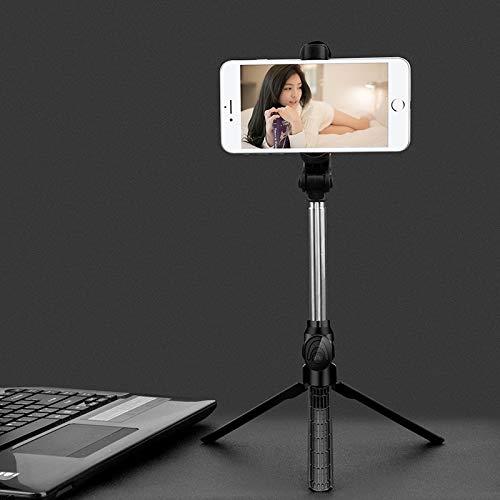 weichuang Selfie Stick Mini Wireless Live Selfie Stick Bluetooth trípode monopié para selfie con luz selfie palo (color: negro)