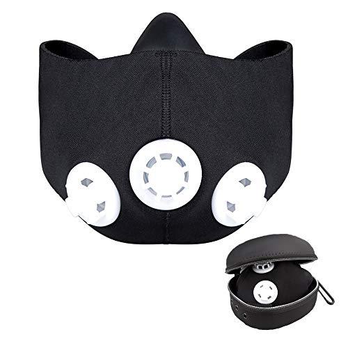 FGDFGDFEEGVD Höhentrainingsmaske Sauerstoffbarriere Original Fitnessmaske Trainingsmaske Laufmaske Atemmaske Widerstandsmaske Höhentrainingsmaske Cardiomaske (schwarz)