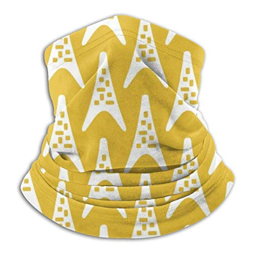 XXUU Mid Century Modern Boomerang Triangle Pattern Unisex Microfibra Cuello Calentador Cuello Polaina Mascarilla Hombres Multifuncional Bandana Mujeres Bufanda Envoltura de la Cabeza Máscara Polvo Vi
