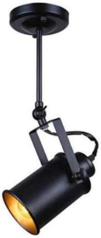 venta caliente Loft Lámpara colgante Focos American American American Pendant Lamp Lámpara Led Restaurante Cafe Bar Decoración (Negro No azulb)  diseño simple y generoso