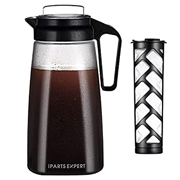 2L Cold Brew Coffee Maker,68oz Iced Iced Coffee Dispenser BPA Free Reusable Mesh Filter for Ground Coffee Loose Tea Dishwasher Safe