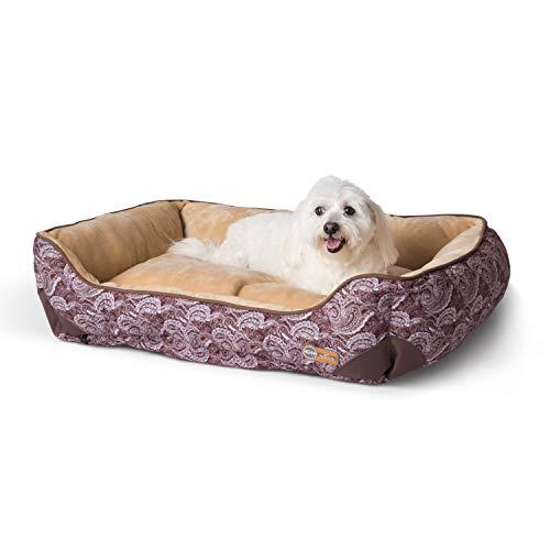 K&H PET PRODUCTS Self-Warming Lounge Sleeper Dog Bed Medium 24 X 30...