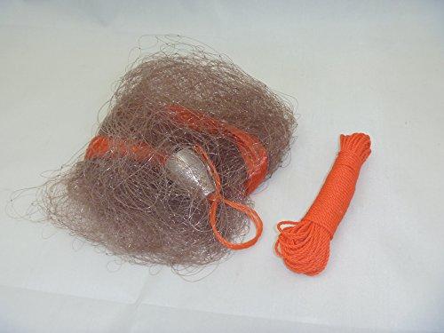 投げカニ網 茶色 大漁釣具