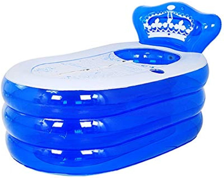 GYF Faltende Badewanne Erwachsene Badewanne Faltende Groe Kinderbecken Kinderbadewanne Erwachsenenbadewanne Faltbadewanne (Farbe   Blau, Größe   130cm)