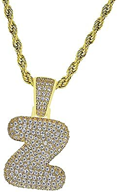 Collar de lujo Mini Zircon 18 Golden Hip Hop Letter Colgante Joyería de moda