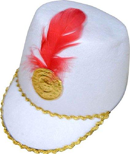 Mondial-Fete - 4 Chapeaux Majorette Blanc