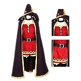 Anime KonoSuba Costume Megumin Uniform Cosplay Unisex Miko Costume Girl Witch Uniform (XL, red)