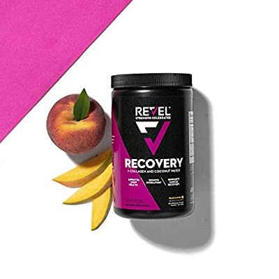 Revel Recovery for Women | BCAA Plus Collagen Powder | Essential Amino Acids and Coconut Water | Nutritional Supplement | Promote Energy Recovery Hydration | 30 Servings