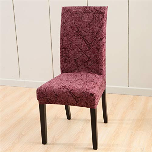 NIKIMI Fundas elásticas para sillas de Comedor Funda Protectora de Silla extraíble con Funda de Asiento Antideslizante de impresión Moderna