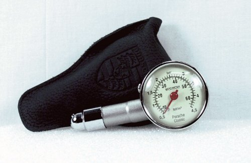 Porsche Genuine Classic Tire Gauge with Leather case