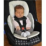ELECTROPRIME Newborn Baby Car Seat Stroller Cushion Pad Head Body Support Pillow Grey