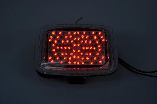 Topzone Moto ahumado lente motocicleta LED Faros traseros para luz trasera de freno con integrado Turn Signal Lamp Indicadores para Harley Davidson V-Rod