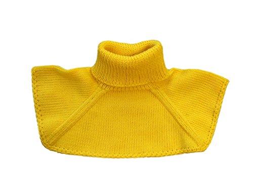tevirP Gestrickter Halswärmer für Babys, aus Merinowolle Gr. L, gelb
