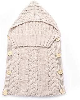 BianchiPatricia Newborn Baby Infant Sleeping Bag Acrylic Fibers Hoodies Swaddle Wrap Sweater