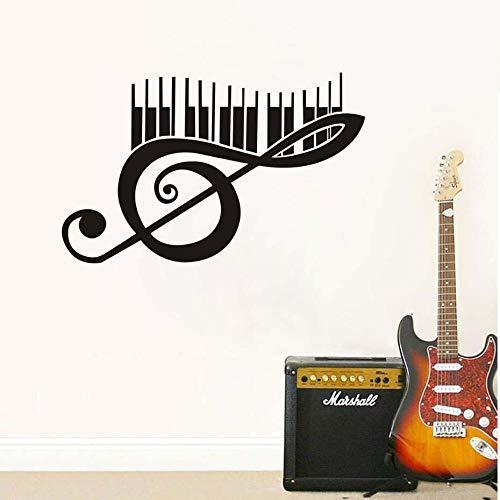 Muzikale noot muurschilderingen Piano Keys Muurschilderingen voor Woonkamer Kids Home Decoratie Zelfklevende Behang PVC Sticker voor Muur
