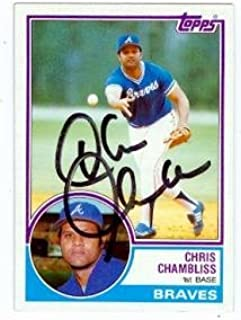 Chris Chambliss autographed baseball card (Atlanta Braves) 1983 Topps #792 - Autographed Baseball Cards